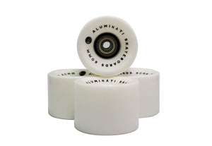White Aluminati Skateboard Wheels