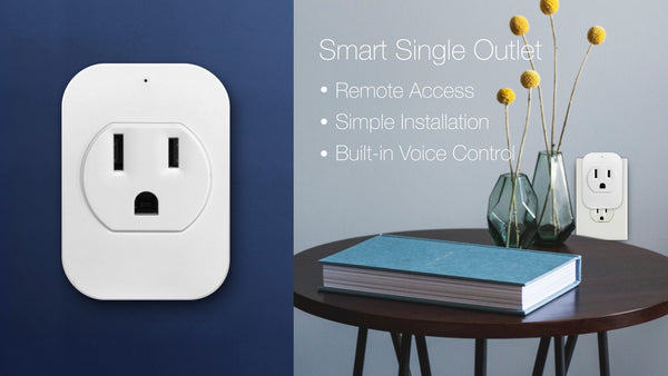 Mini Wi-Fi Smart Outlet Socket, work with alexa and google assistant