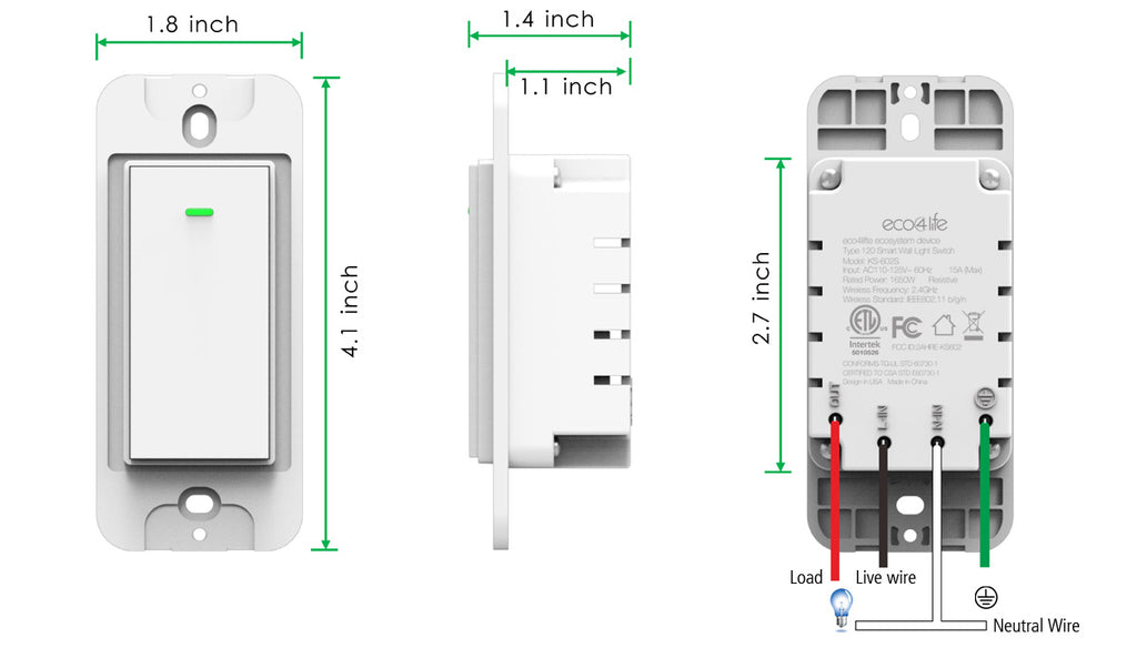 Eco4life Smart Wi-Fi switch installation