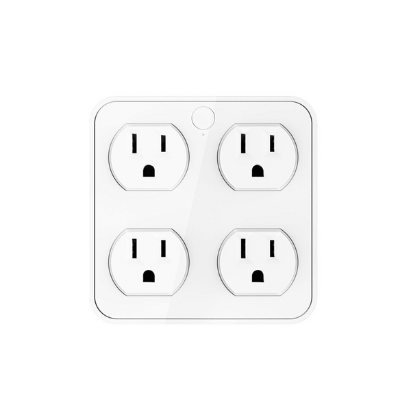 Wireless Wall Tap Smart Plug,Surge Protector, 4 Outlet Extender with 4 USB Charging Ports, Work with Alexa Google Assistant, no Hub Required (4 Outlets,4 USB Ports),ETL Certification