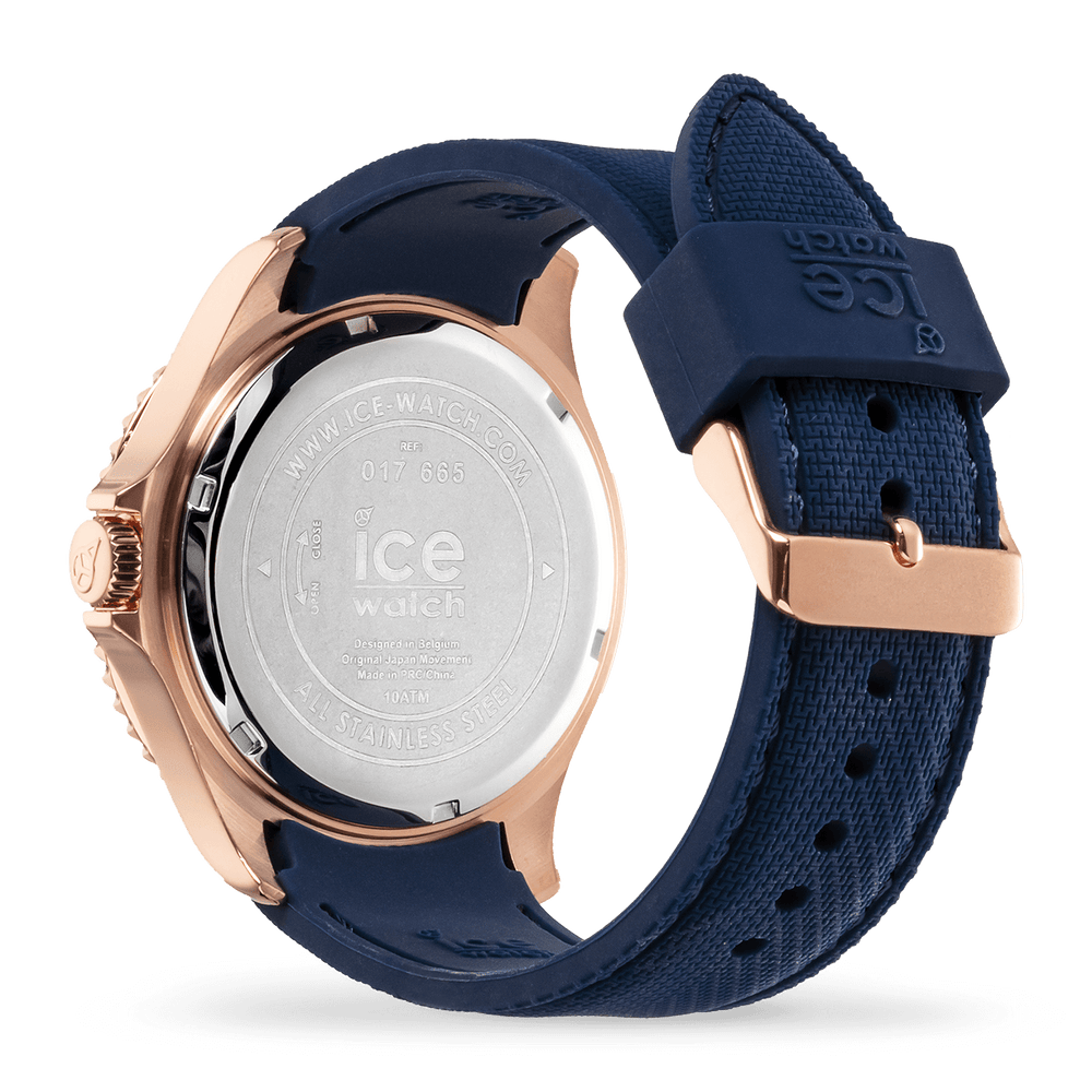 ICE steel blue rose-gold - Large