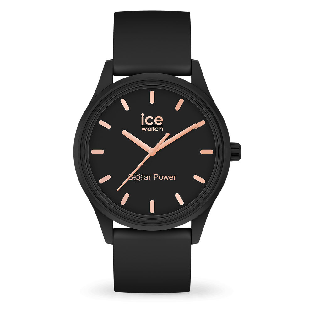 ICE solar power - Black rose-gold - Small