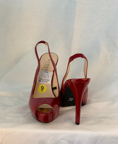GUESS BURGUNDY SLINGBACK SIZE 9