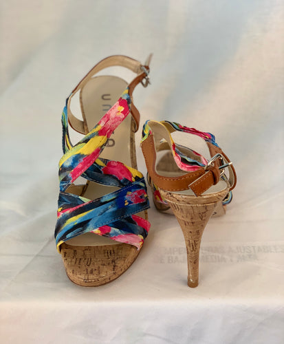 MULTI COLOR SLING BACKS SIZE 7 1/2