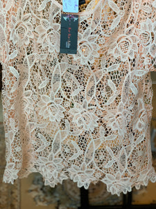 PEACH LACE TOP SIZE 1XL