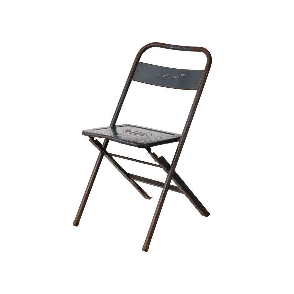 VINTAGE STEEL FOLDING CHAIR / Gray