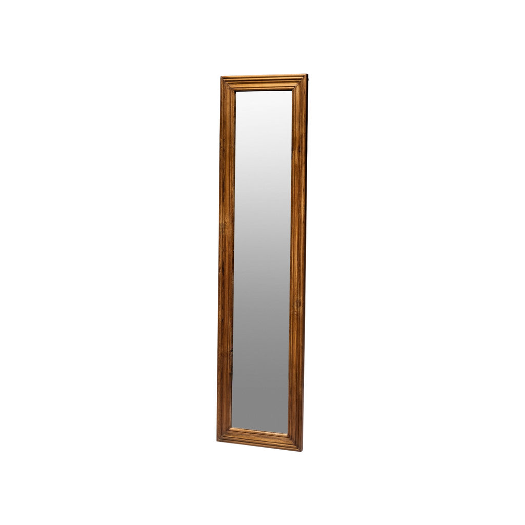 TEAK WOOD FIGURE MIRROR