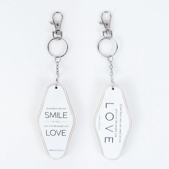 Smile love keychain