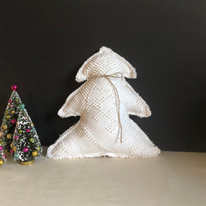 White Boucle Tree Pillow