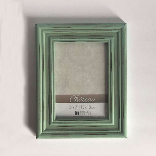 sea green distressed picture frame
