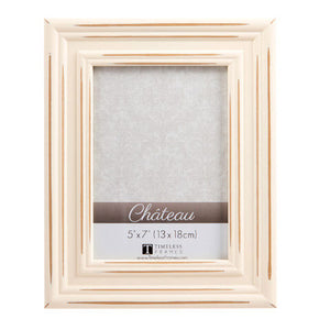 cream distressed frame