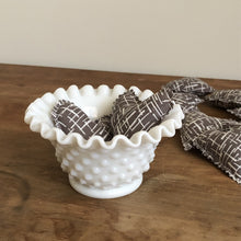 fenton hobnail milk glass bowl