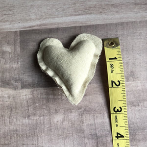 cream fabric heart