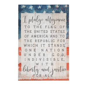 Pledge of Allegiance Pallet Sign