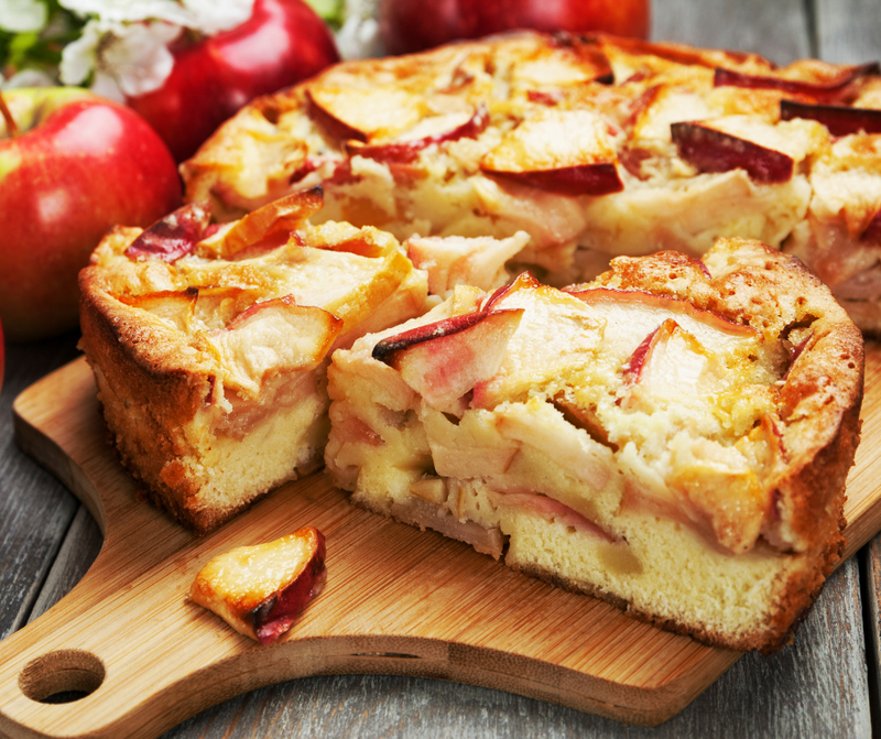 Apple Cake with Olive Oil and Honey