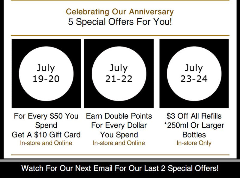 Celebrating 5 Years With 5 Special Offers