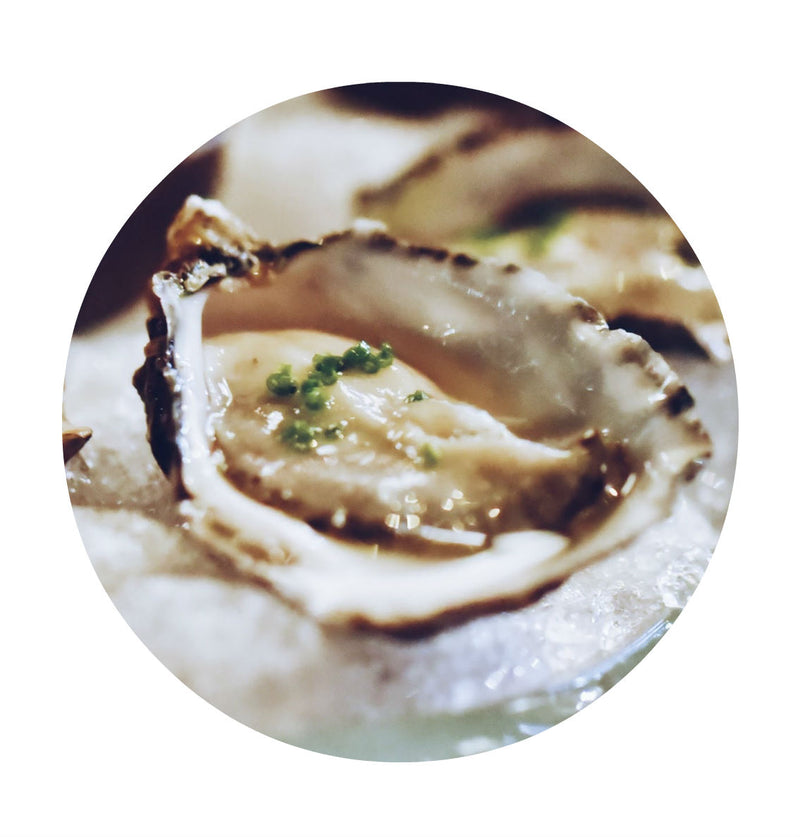 Oysters with Champagne Vinegar Mignonette