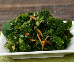 Kale Salad with Carrot Ginger Dressing
