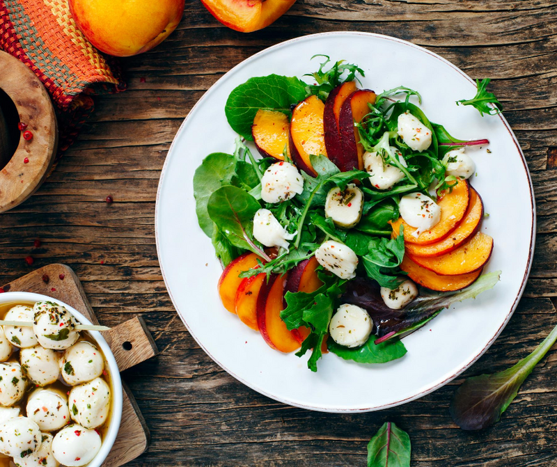 Peach Mozzarella Salad