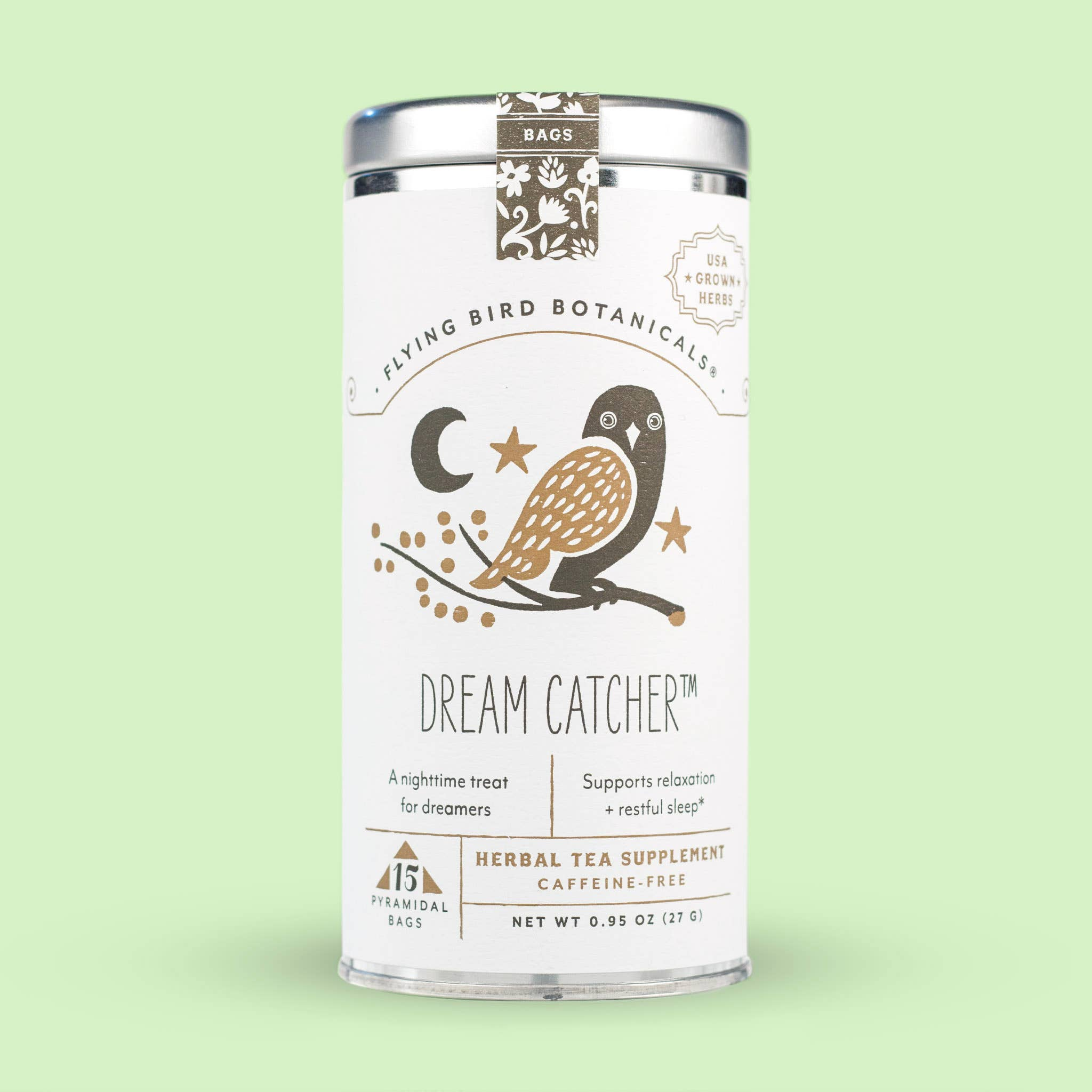 Dream Catcher Organic Tea– 15 Tea Bag Tin