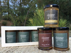 Honey Trio Set- Bourbon, Cinnamon, and Salted Honey, Sweets & Desserts, Cloister Honey - Olive & Basket