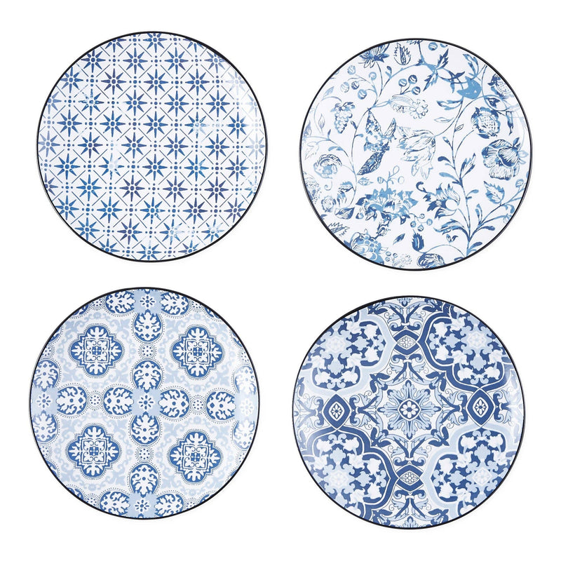 Porto Blue Tile Porcelain Appetizer Plate  Design Imports Kitchen & Specialty Items Olive & Basket