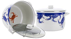 Blue & White Crab Pot  Golden Rabbit Kitchen & Specialty Items Olive & Basket