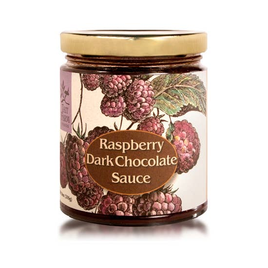 Raspberry Dark Chocolate Sauce- Tait Farm Foods 9oz