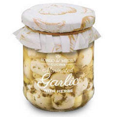 Marinated Garlic with Herbs  Borgo de Medici Appetizers & Toppings Olive & Basket