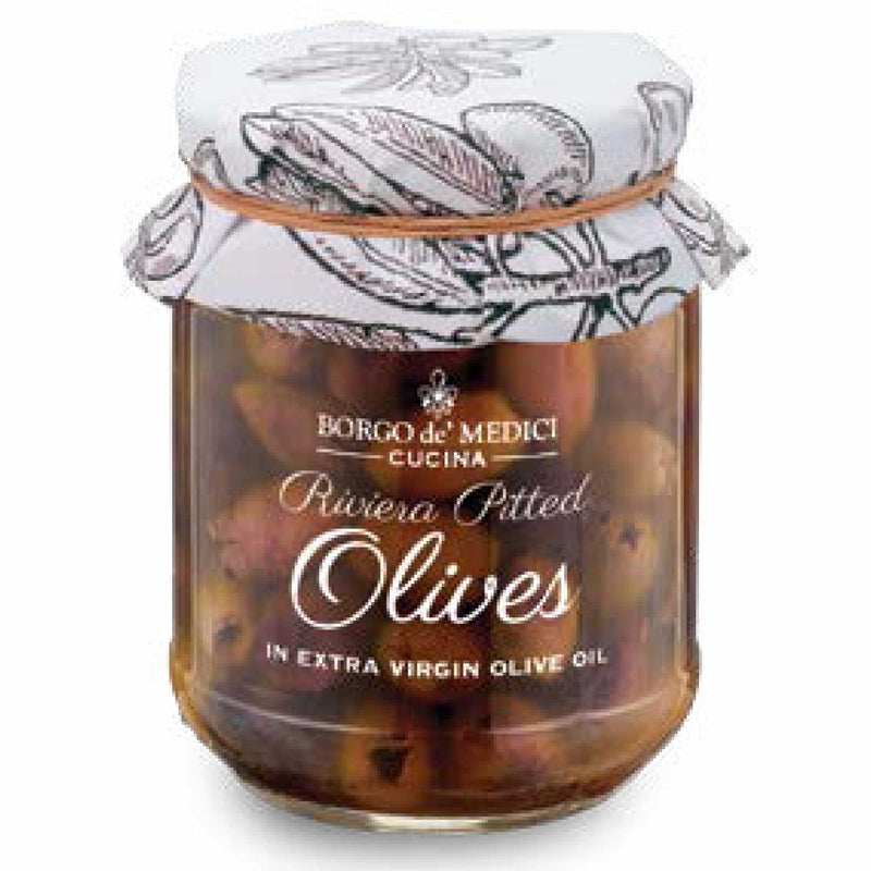 Riviera Pitted Olives  Borgo de Medici Appetizers & Toppings Olive & Basket