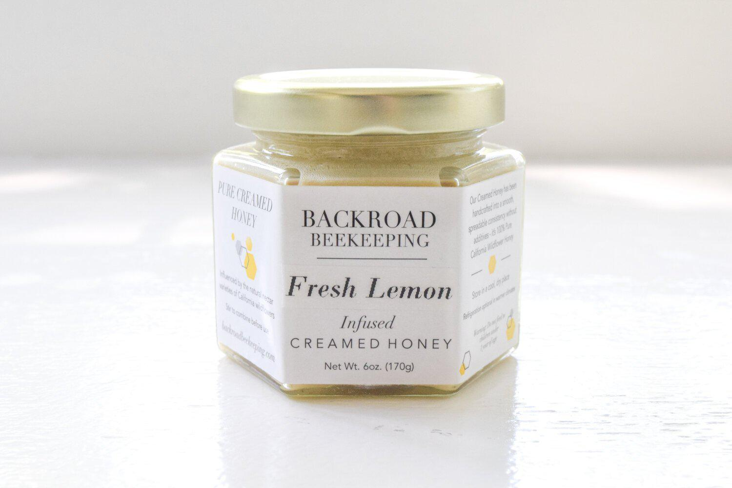 Fresh Lemon Creamed Honey