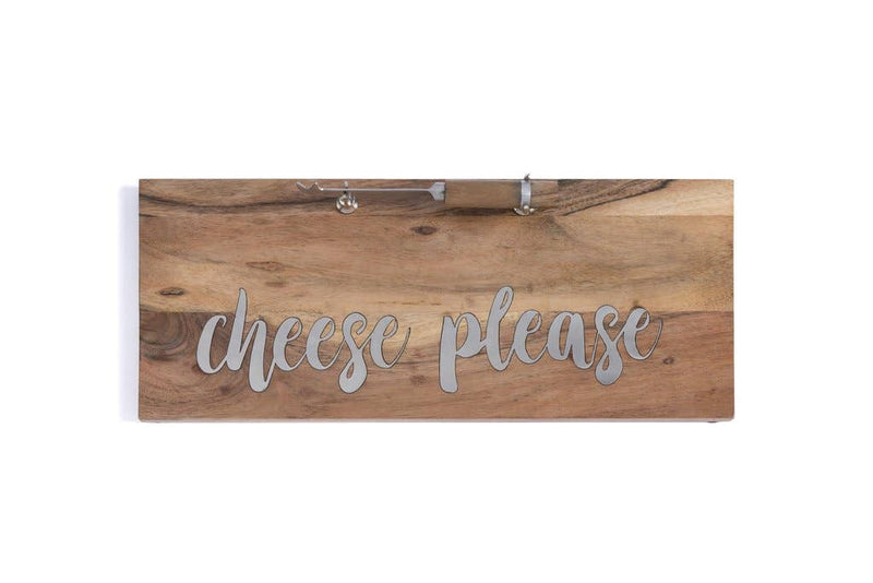 """CHEESE PLEASE"" BOARD AND KNIFE SET  Shiraleah Kitchen & Specialty Items Olive & Basket"
