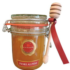 Italian Alpine Flower Honey With Honey Dipper- Limited Quantity