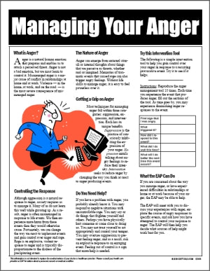 E003 Managing Your Anger - HandoutsPlus.com
