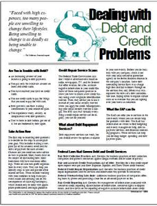 E004 Dealing with Debt and Credit Problems - HandoutsPlus.com