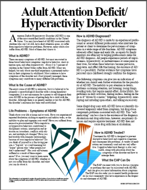 E010 Adult Attention/Hyperactivity Disorder - HandoutsPlus.com