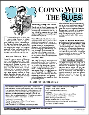 E013 Coping with the Blues - HandoutsPlus.com