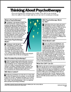 E014 Thinking About Psychotherapy - HandoutsPlus.com