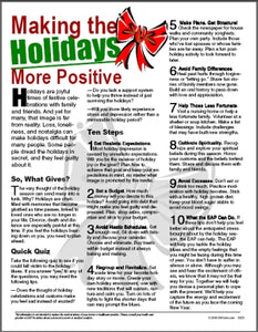 E025 Making the Holidays More Positive - HandoutsPlus.com