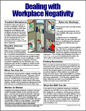 E026 Dealing with Workplace Negativity - HandoutsPlus.com