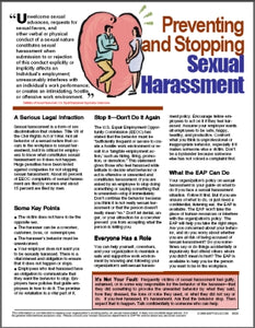 E028 Preventing and Stopping Sexual Harassment - HandoutsPlus.com