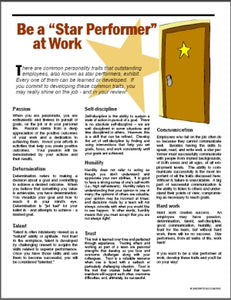 E032 Be a Star Performer at Work - HandoutsPlus.com