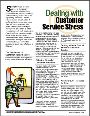 E036 Dealing with Customer Service Stress - HandoutsPlus.com