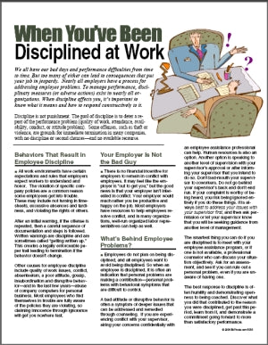 E056 When You've Been Disciplined at Work - HandoutsPlus.com