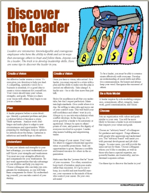 E062 Discover the Leader in You! - HandoutsPlus.com