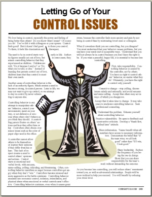 E063 Letting Go of Your Control Issues - HandoutsPlus.com