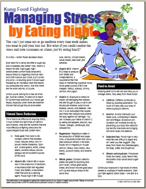 E064 Managing Stress by Eating Right - HandoutsPlus.com