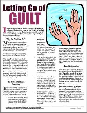 E082 Letting Go of Guilt - HandoutsPlus.com