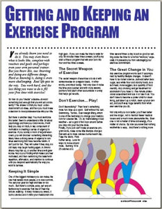 E089 Getting and Keep an Exercise Program - HandoutsPlus.com