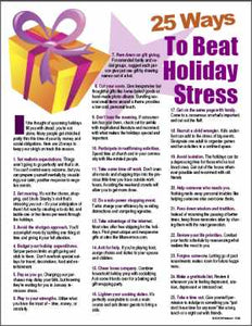 E090 25 Ways to Beat Holiday Stress - HandoutsPlus.com